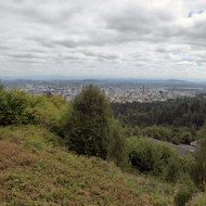 A view of Portland, Oregon from the Pittock Mansion.