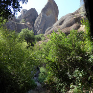 A trail in Pinnacles National Park in California.