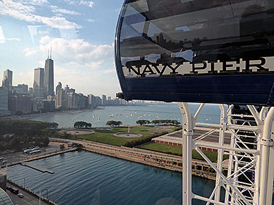 Thumbnail image ofChicago from the Navy Pier Ferris Wheel.