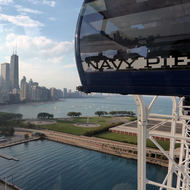 Chicago from the Navy Pier Ferris Wheel.