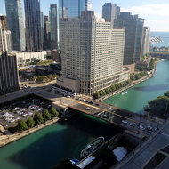 The Chicago River from the Hyatt Regency.