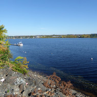 The St. John River in Fredericton, New Brunswick.