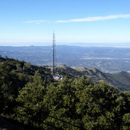 A communications tower on Mount Diablo.