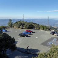 The parking lot at the top of Mount Diablo in California.