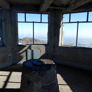 An observation tower at the top of Mount Diablo in California.
