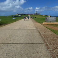 The long pathway to the San Felipe del Morro Fortress, on Punta del Morro.