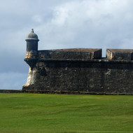 A corner of the San Felipe del Morro Fortress, on Punta del Morro.