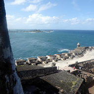 The tip of the San Felipe del Morro Fortress, on Punta del Morro.