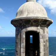 A guard tower of the San Felipe del Morro Fortress, on Punta del Morro.