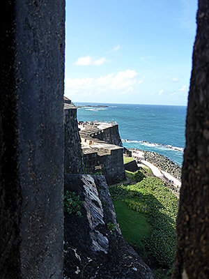 Thumbnail image ofA view along the fortress wall from the guard...