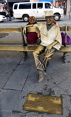 """Thumbnail image ofAn informal statue for Catalino """"Tite"""" Curet Alonso,..."""