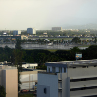 A view of the San Juan airport from a hotel.