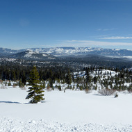 A cross-country ski resort in the Sierra Nevada Mountains.