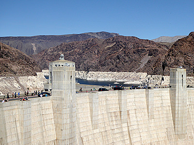 Thumbnail image ofHoover Dam with Lake Mead behind it.