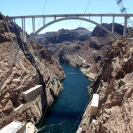 Below Hoover Dam.