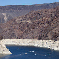 Lake Mead just behind Hoover Dam.