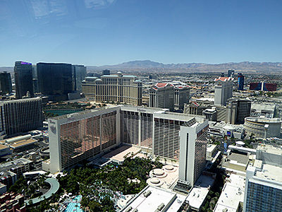 Thumbnail image of A view of Las Vegas and the mountains to the west...
