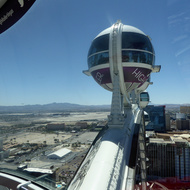 The High Roller observation wheel in Las Vegas.