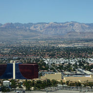 The mountains to the west of Las Vegas from the High Roller observation wheel.