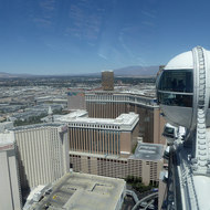 A view to the North from the High Roller observation wheel in Las Vegas.