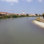 The Adige River in Verona, Italy