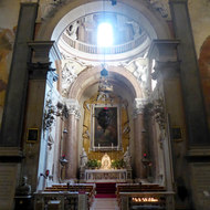 The interior of the Church of Santa Anastasia in Verona, Italy.