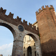 The Portoni della Bra (Gates of the Bra) in Verona, Italy.