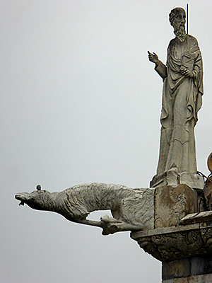 Thumbnail image ofDetail of the sculptures at one of the cornices...