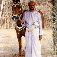 Omani and His Horse - Mintirib, Oman