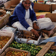 Omani food seller - Sur, Oman