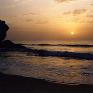 Coastal sunset - Ras Al Junayz, Oman.
