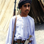 Young Man With Rifle - Mintirib, Oman