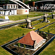 Oil storage, Windmills, Farmhouse Miniatures - Madurodam, the Hague, the Netherlands