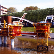 Oil Platform Miniature - Madurodam, the Hague, the Netherlands
