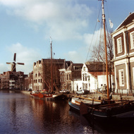 Windmill and Canal Boat - Schiedam, the Netherlands