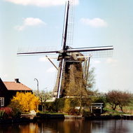 Windmill on Canal - the Netherlands