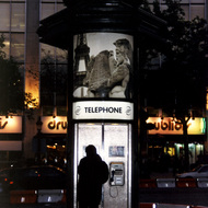 Telephone Booth at Night - Paris, France