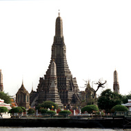 Wat Arun Temple on the Chao Phraya River - Bangkok, Thailand