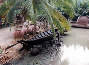 Thumbnail image of Boat and Rain Containers - Damnern Saduak, Thailand