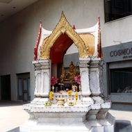 Buddhist Shrine Outside the Crowne Plaza Hotel - Bangkok, Thailand