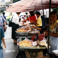 Sidewalk Food Seller - Bangkok, Thailand