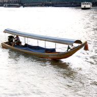 Long Tail Boat on the Chao Phraya River - Bangkok, Thailand