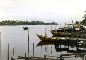 Thumbnail image of Boats on the Kuala Belait River - Brunei