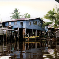 House on the Kuala Belait River - Brunei