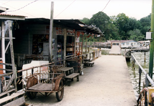 Thumbnail image of Shops at the Kuala Belait River, Brunei