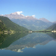 Alpine Lake Along the Bernina Express - Switzerland