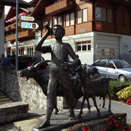 Statue of Boy and Goats - Brienz, Switzerland