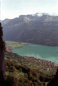 Thumbnail image of Brienz and the Brienzersee from the Rothorn -...