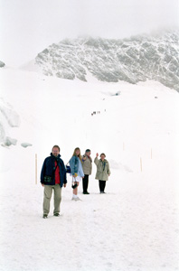 Thumbnail image ofHikers on the Aletsch Glacier - Jungfraujoch,...