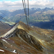 View from the Corviglia Cable Car - St. Moritz, Switzerland
